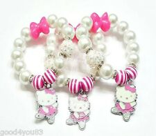 Hello Kitty Beaded Bracelet, Girls, Toddler, Pink Ballerina Stretch Bracelet