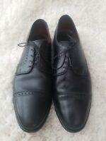 Allen Edmonds Clifton Black Leather Mens Shoes Size 9.5 Cap Toe Lace Up Oxfords