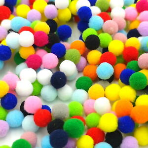10mm Pompoms High Quality Craft Pom Poms Choose from 19 Colours or Assorted
