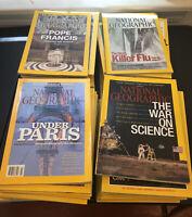 Lot 12 National Geographic Magazine Random Pick 1960s - 2010s No duplicates