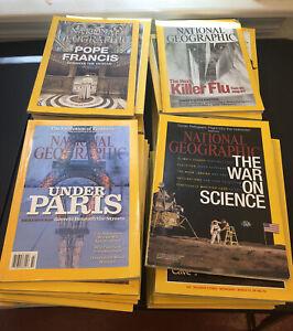 Lot 12 National Geographic Magazine Random Pick 1950s - 2020s No dups per box