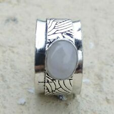 Moonstone Ring 925 Sterling Silver Spinner Ring Handmade Women Ring Size 9 MA617