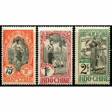 Lot A414 - Indochine - N°54/56 Colonies Françaises Neuf * Qualité TB