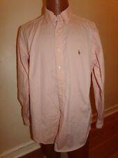 Polo Ralph Lauren Yarmouth Men's LS BD 16 & 1/2 (34-35) Peach Shirt.