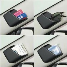 2PCS Car Dashboard Pillar Pocket Holder Storage for Smart Phone Key Card Black
