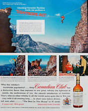 Vintage 1957 Canadian Club Whisky Canada Rockies advertisement print ad art