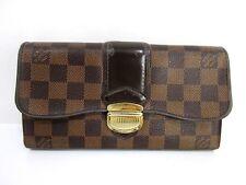 Authentic Louis Vuitton Damier Portefeuille Sistina N61747 Long Wallet 59070