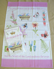 The Flowers of the Field... Tea Towel 100% Cotton NEW EB0679