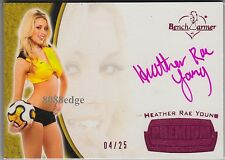2012 BENCHWARMER SOCCER AUTO: HEATHER RAE YOUNG #4/25 AUTOGRAPH PLAYBOY PLAYMATE