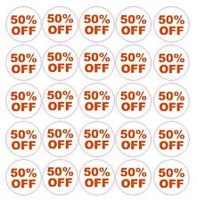 50%  Percent Off Sale Sticker Retail Store FLEA MARKET Boutique MADE IN USA #D57