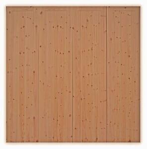 BI-FOLD SET OF GARAGE DOORS 'SUTTON' CEDAR WITH FRAME AND IRONMONGERY (TEEBONE)