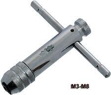 T Bar Handle Ratchet Tap Wrench M3 - M8 Forward Reverse Lock Die Set Reversible
