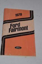 Original Vintage 1979 Ford Fairmont Operator's Manual