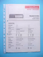 Service Manual-Anleitung für Nordmende Skandia 0.129 A ,ORIGINAL
