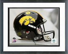 "Iowa Hawkeyes Football Helmet Photo RM152 (Size: 12.5"" x 15.5"") Framed"