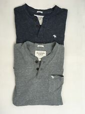 ABERCROMBIE & FITCH Tshirt Bundle 2x Blue Grey Muscle Fit Short Sleeve Size XXL