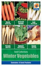 Pack of WINTER VEGETABLE Garden Grow your own SEED Collection
