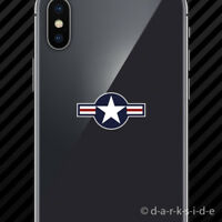 (2x) United States Air Force USAF Roundel Cell Phone Sticker Mobile military
