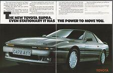 1986 TOYOTA SUPRA 2-page advertisement, British advert, silver sports car