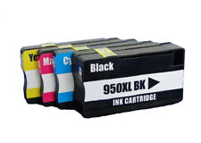 4 PK ink cartridges for HP 950XL 951 XL OfficeJet Pro(Black+Cyan+Yellow+Magenta)