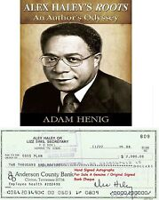 "ALEX HALEY  ""Roots Author""   HAND SIGNED BANK CHECK / CHEQUE  1989  VERY   RARE"