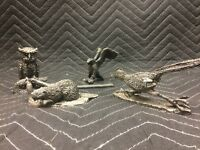 Lot Of 4 Hudson Pewter Figurines Collectible Honeywell Pewter