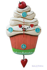"Gorgeous ""Sweet Cupcake"" Designer Wall Clock by Allen Designs"