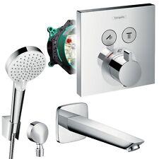 Hansgrohe Unterputz Wannen Set, Shower Select Thermostat, Logis Wanneneinlauf