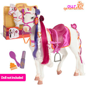 """OUR GENERATION CAMARILLO Hair Play HORSE 14ps Access 18""""46cm Dolls AMERICAN GIRL"""
