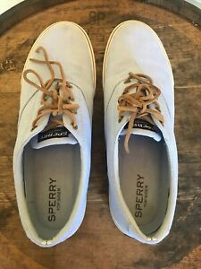 Sperry Baby Blue Linen Shoes 14