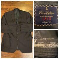 Brooks Brothers 42R Dark Charcoal Gray Fitzgerald 1818 Estrato Blazer Jacket