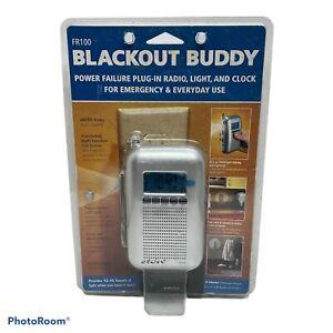 ETON FR100 BLACKOUT BUDDY EMERGENCY RADIO LIGHT CLOCK SILVER- NEW