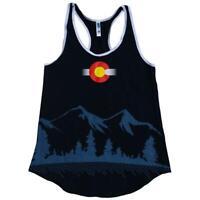 Woman's Colorado State Flag Flowy Racer Back Tank Top - Calhoun Sportswear
