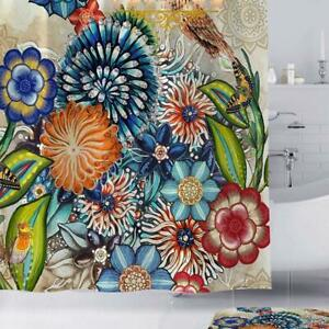 Fashion World Single Shower Curtain colored Haskell 1pc Boho Bouquet N9O7