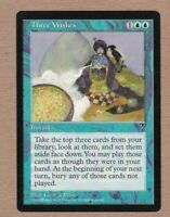 MTG - Three Wishes - Visions - Rare EX/NM - Single Card
