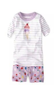 Hanna Andersson Organic Cotton Short John Pajama Set (US 3) 90 cm