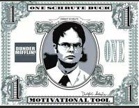Lot Of 20 Schrute Bucks The Office Dunder Mifflin Dwight Motivational FREE SHIP!