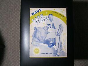 1961 Penn State vs. Navy Midshipmen Football Game Program