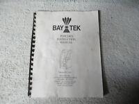 POPCORN BAY TEK   arcade game manual