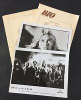1970's ORIGINAL Vtg GREGG ALLMAN BAND Press Kit & Photos CAPRICORN RECORDS