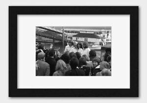 ABBA - Pop group November 1976 Poster Black Frame A3 (29.7x42cm) White