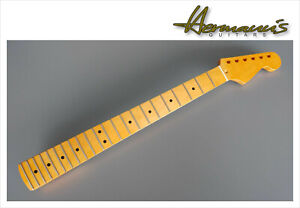 Canadian Maple Guitar Neck mit Maple Griffbrett im S Style, Finish Vintage Satin