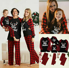 UK Family Matching Adult/Kids Christmas Pyjamas Nightwear Sleepwear Xmas PJs Set