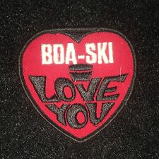 Boa Ski I Love You Patch - Vintage  - Snowmobile
