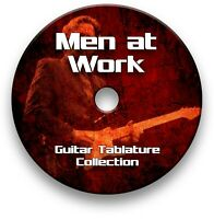 MEN AT WORK ROCK GUITAR TAB TABLATURE SONG BOOK TUITION SOFTWARE CD