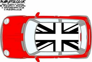 Mini Inverted Union Jack flag graphics stickers decals R50 R53 One Cooper