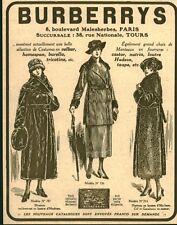 """Publicité Ancienne """" Mode Vêtements BURBERRYS  1918 ( P 35 )"""