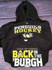 Pittsburgh Penguins Hoodie + T Shirt Combo. size Small--black with logo