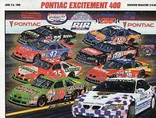 1998 PONTIAC EXCITEMENT 400 NASCAR RACE PROGRAM-RICHMOND RACEWAY+STARTING LINEUP