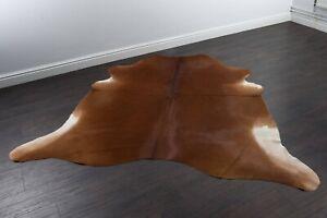 Luxury Solid Brown Cow Skin Cowhide Rug Large Cow Hide Rugs